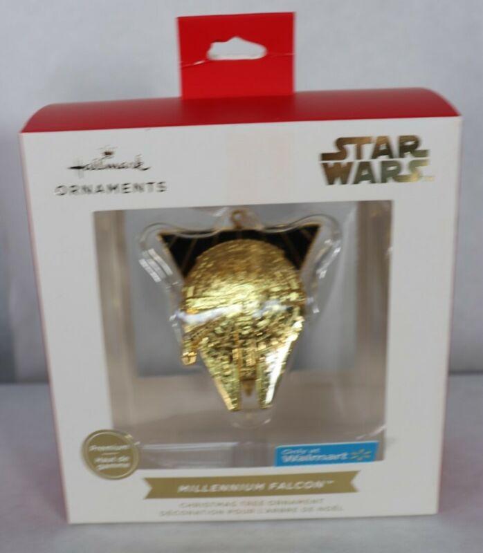 2021 Hallmark Star Wars Premium Gold Millennium Falcon Walmart Exc. Ornament