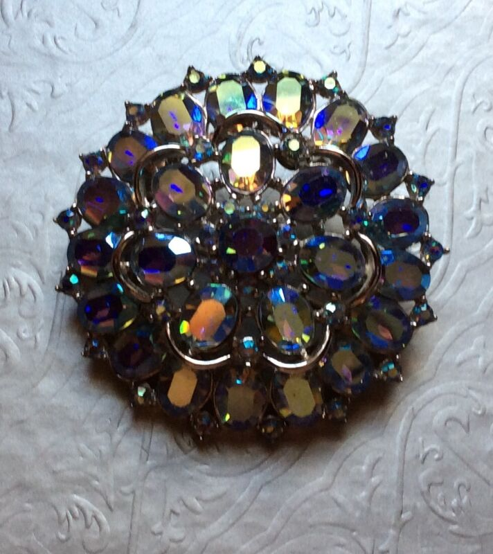Vintage Jewelry Trifari Brooch mid 50's to late 60's Crown Trifari