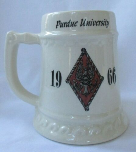 PURDUE UNIVERSITY LARGE BEER STEIN MUG 1966