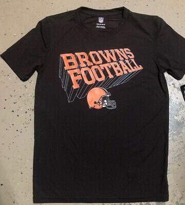NWT Boys Youth Cleveland Browns Nfl Football Tee/short Sleeve Shirt Size M 10/12 Cleveland Browns Youth Short