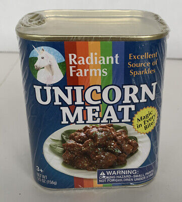 New Sealed Radiant Farms ThinkGeek Unicorn Meat Novelty Gag Gift Discontinued