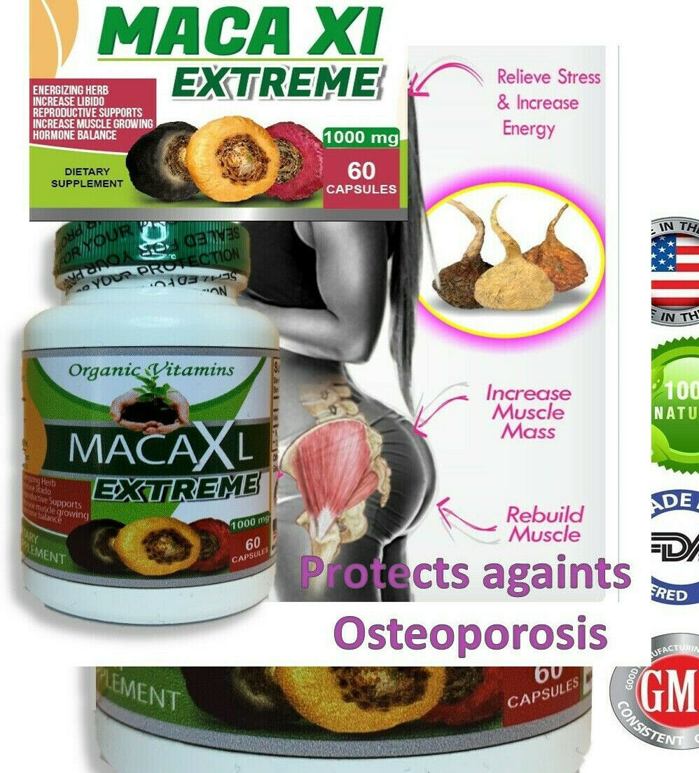 Maca Root Powder capsule for woman red black yellow bigger butt and hips booty 3