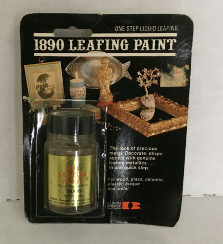 vintage one step liquid leafing 1890 leafing paint still in original packaging