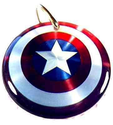 Hund Captain America (Captain America Superhero Custom Pet Dog Cat ID Tag personalized)