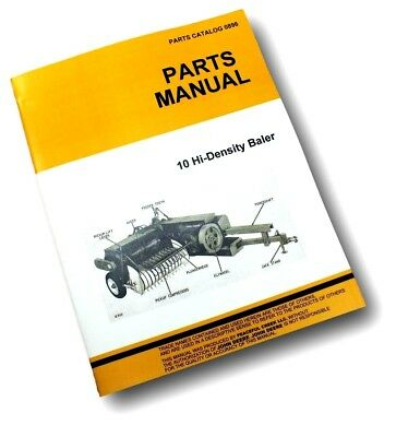 Parts Manual For John Deere 10 Hay Square Baler Catalog Exploded Views Assembly