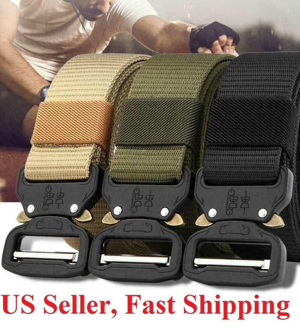 New Military Tactical Belt Mens Army Combat Waistband Rescue Rigger Belts buckle Belts