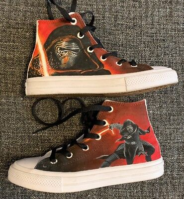 Rare Converse Chuck Taylor Star Wars All Star Hi-Tops Trainers UK Child 1 Kylo R