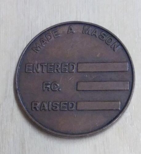 Made A Mason Bronze Medal Token (#BZ-17)