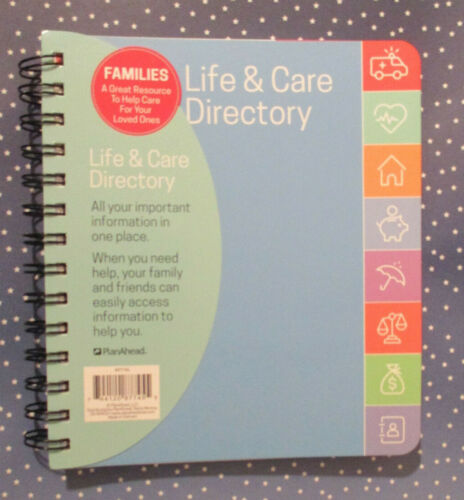 ADDRESS BOOK LIFE & CARE DIRECTORY - Health Home $ Legal Assets - Phone CONTACTs