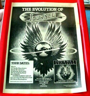 Journey Evolution/UK Tour Vintage ORIG 1979 Press/Magazine ADVERT Poster-Size