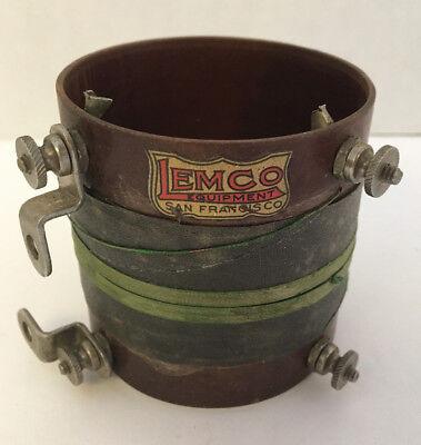 """Antique VTG LEMCO Equipment San Francisco Radio Coil 2-5/8"""" Diameter"""
