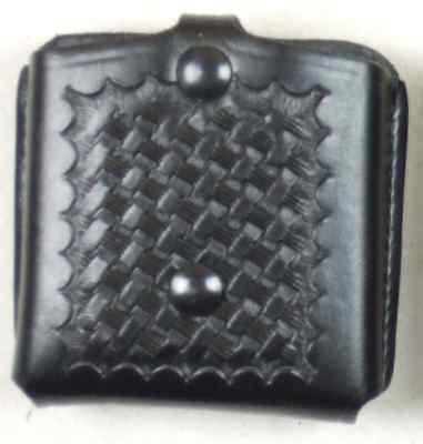 Bianchi Doppel-Magazintasche Leder Basket offen (Polizei und Security)