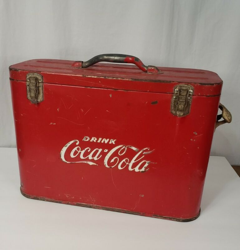 Vintage Coca-Cola Coke Airline Cooler Chest 1950s