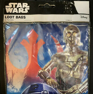Star Wars Favor Bags (Star Wars R2D2 & C3PO (8) Party Favor Loot Goody Bags Birthday)