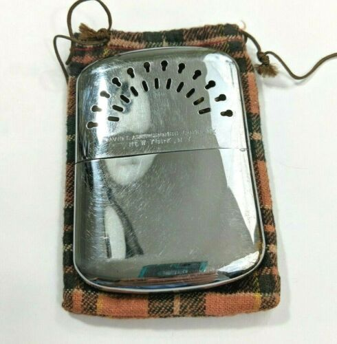 Vintage Heaterette Pocket Hand Warmer David T. Abercrombie Company New York