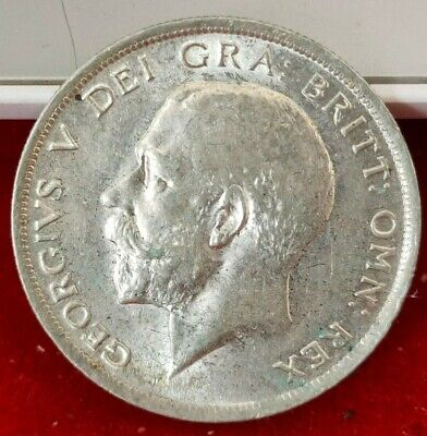 1918 HALFCROWN George V British silver coin superbe