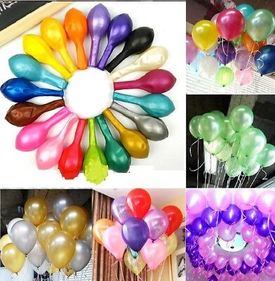 100pcs Pearl Latex Helium Balloons Wedding Birthday Party Celebration Decoration - 100 Helium Balloons