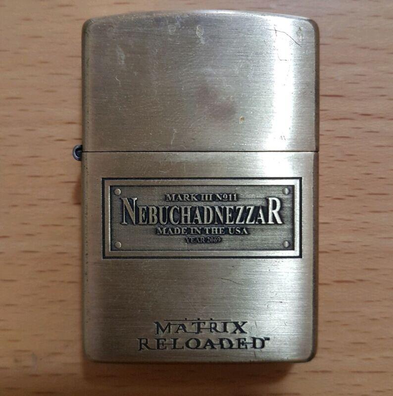 RARE!! Matrix Reloaded Nebuchadnezzar Ship Plate Zippo Lighter 2003 Limited Ed.