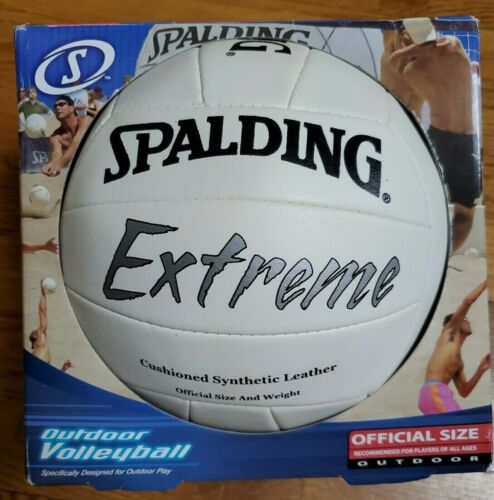 Spalding Extreme Outdoor Volleyball White Official Size Weight Synthetic Leather