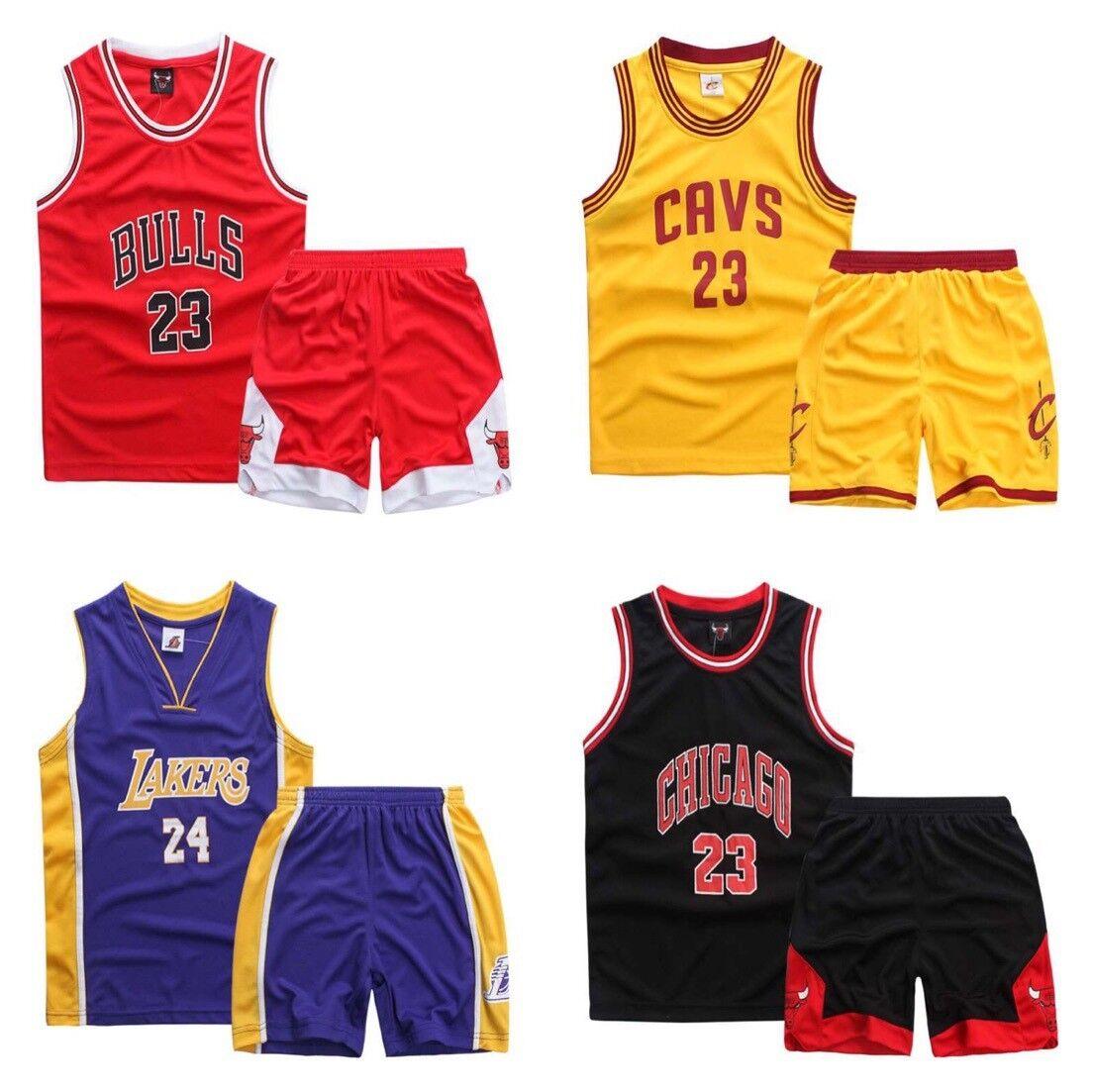 Jugend Kinder Jungen # 23 Bulls Basketball Trikots trikotsatz Shorts Sport Anzug