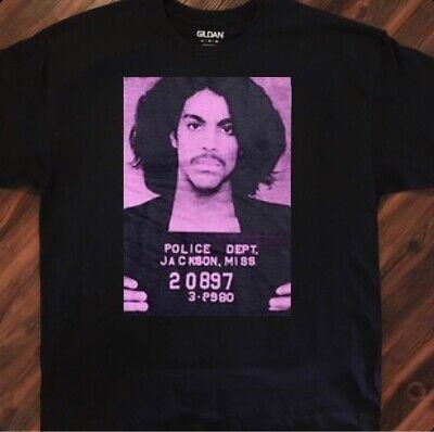 Prince Purple Rain Mugshot Tee Shirt Large
