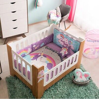 UNICORN MAGIC  BABY GIRLS CRIB BEDDING SET NURSERY 6 PCS FOR BABY SHOWER GIFT