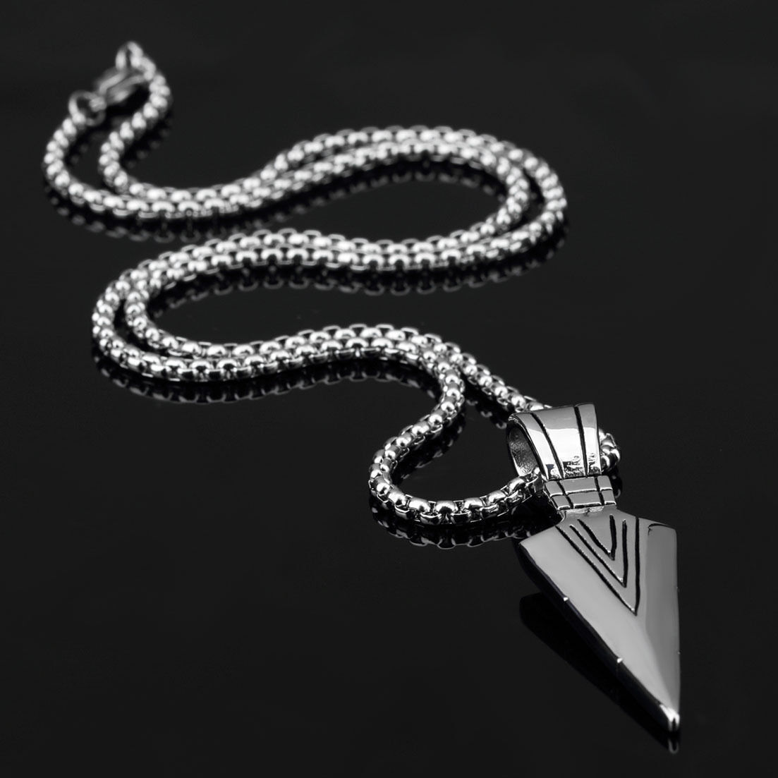Fashion jewelry men gold silver arrow head pendant long chain fashion jewelry men gold silver arrow head pendant long chain necklace gift aloadofball Images
