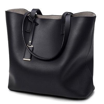 Women Black Leather Tote Purse Handbag Crossbody Satchel Shoulder Messenger Bag