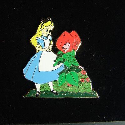 Alice Fun with Flowers Disney Shopping Pin LE 250 OC RARE Alice Wonderland