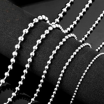 Wholesale 1.5/2/2.4/3.2mm Ball Chain Necklace Stainless stee