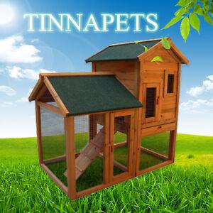 New LARGE 115*78*113 CM Rabbit Guinea Pig Ferret Coop House Hutch Run Cage P003