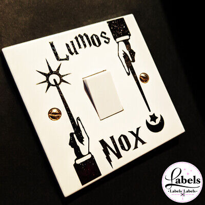 WALL ART LUMOS NOX HARRY POTTER STYLE MAGIC Light Switch STICKER KIDS ROOM HOME