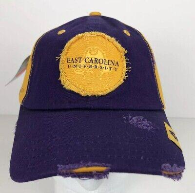 East Carolina Pirates Purple & Gold Adjustable Vintage Look Hat NWT - Purple Pirate Hat