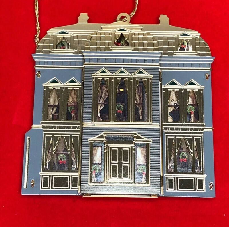 B&G JERSEY HOUSE Dollhouse Christmas Ornament Collection 24K Gold Plated