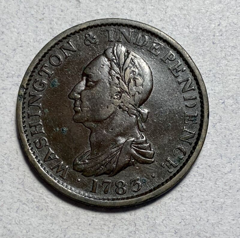 1783 Draped Bust Washington & Independence Colonial Cent