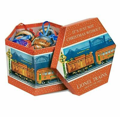 LIONEL TRAINS CHRISTMAS ORNAMENTS (SET OF 14) NEW IN BOX