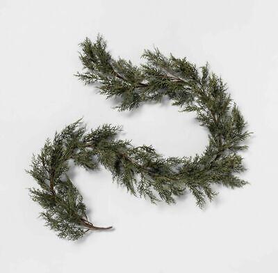 Hearth & Hand Magnolia 6 Ft Faux Cedar / Cypress Garland Green 72