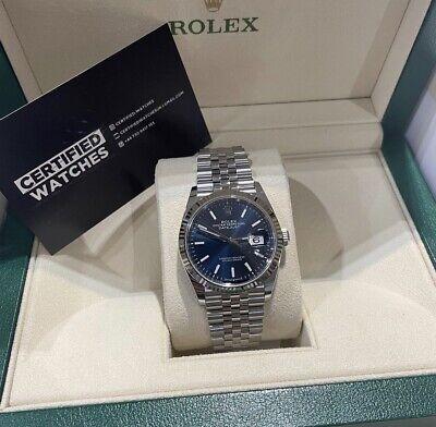 Rolex Datejust Blue Men's Jubilee Bracelet Watch 36mm