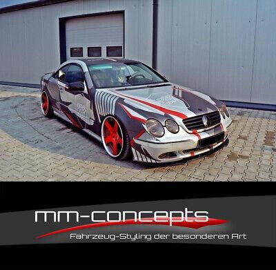 Cup Spoilerlippe SCHWARZ für Mercedes CL C215 Spoilerschwert Frontspoiler ABS