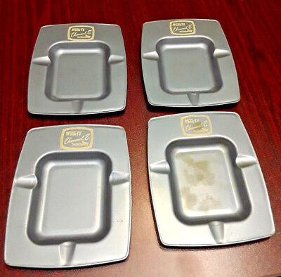 4 Small Vintage Wgal Metal Ashtrays