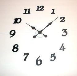 High Torque (Silent) Clock Motor w/Large 8 Fancy Hands w/Wall Mount/Hr Markers