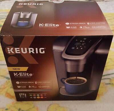 Keurig K-Elite Single-Serve K-Cup Pod Coffee Maker In Brushed Silver