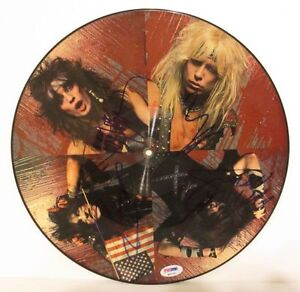 MOTLEY-CRUE-Band-Signed-By-All-4-Helter-Skelter-Album-Picture-Disc-PSA-DNA