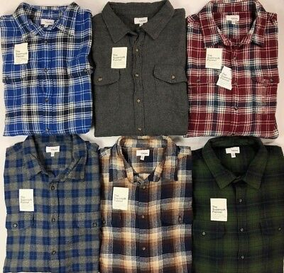 Flannel Big Shirt (Men's Sonoma Big & Tall The Supersoft Flannel Button Front Long Sleeve)