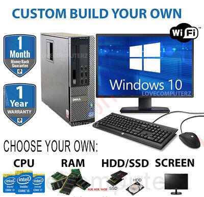 DELL/HP i5 QUAD DESKTOP TOWER PC & TFT COMPUTER SET 16GB WINDOWS 10 HDD & SSD