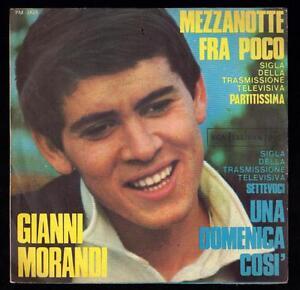 GIANNI-MORANDI-DISCO-45-GIRI-SIGLA-TV-MEZZANOTTE-FRA-POCO-RCA-PM-3425