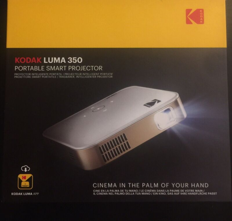 Kodak LUMA 350 Portable Smart 1080p HD LED DLP Rechargeable Projector-350 Lumens