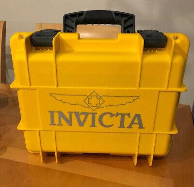 Invicta Waterproof Dive Protective Case- 8 Slot Yellow Boat Dry Box Lockable NEW