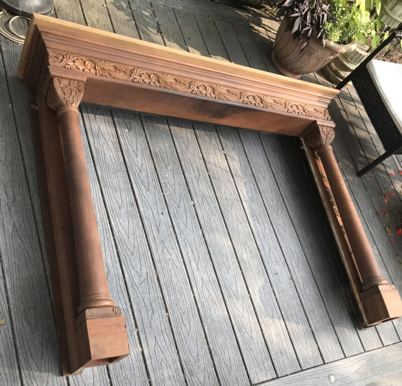 Antique FIREPLACE MANTEL FIRE PLACE WOOD SHELF LIVING ROOM-Pick Up Only!!