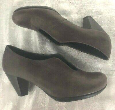 "Hispanitas brown leather 3"" heel shoe boo size 39/UK 6 - BNWOB"